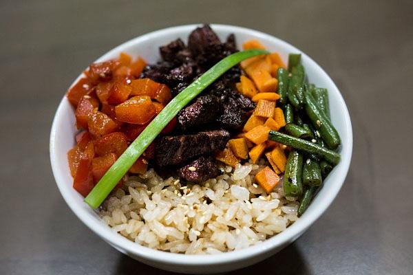 Рис говядиной в устричном соусе
